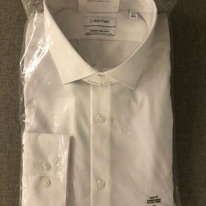 White dress shirt for suit or tux!